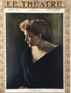 Copertina della rivista Le Theatre aprile 1905 con il ritratto di Eleonora Duse Venezia Fondazione Giorgio Cin