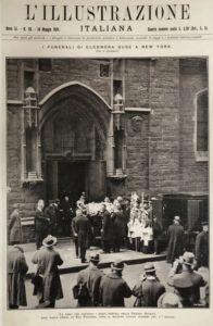 I Funerali di Eleonora Duse a New York l'illustrazione Italiana 18 maggio 1924 Venezia Fondazione Giorgio Cini
