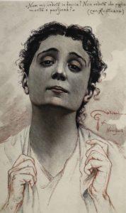 Ritratto di Eleonora Duse in Cavalleria rusticana 1896 circa Venezia Fondazione Giorgio Cini