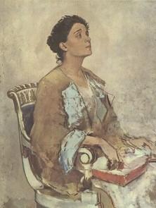 Ritratto in poltrona di Eleonora Duse