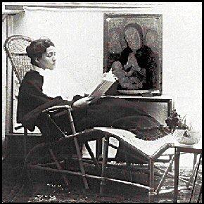 Scatto nella biblioteca personale di Eleonora Duse